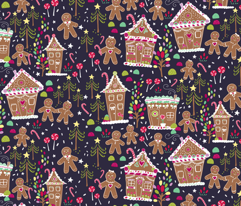 Gingerbread Delight fabric by jacquelinehurd on Spoonflower - custom fabric