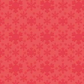 Woodland Christmas Red Snowflake