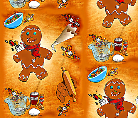 Gingerman 17 fabric by lil_chick_ent_ on Spoonflower - custom fabric