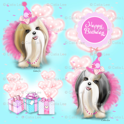Shih Tzu Birthday girl party M