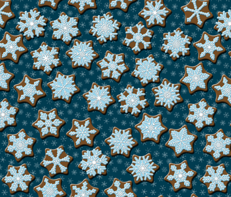 Frosted Gingerbread fabric by inscribed_here on Spoonflower - custom fabric