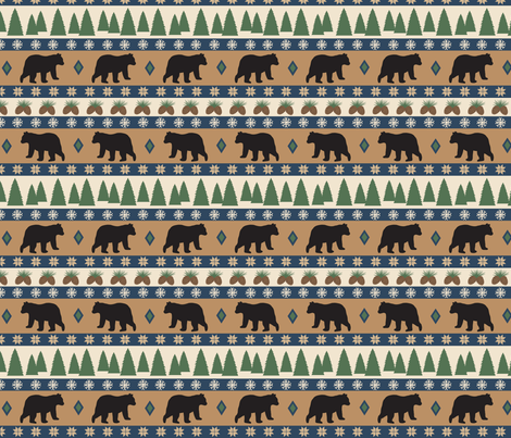 Bear March fabric by phyllisdobbs on Spoonflower - custom fabric