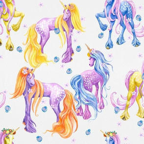 Unicorn Pattern No Foliage
