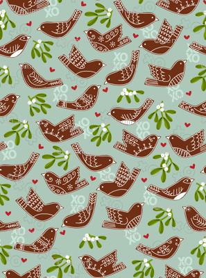 Gingerbread Lovebirds