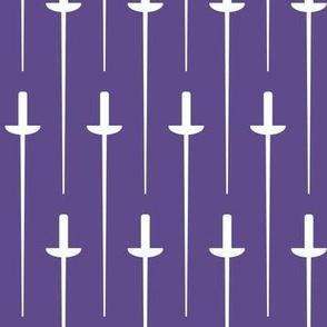 Large White Fencing Foil on Ultra Violet