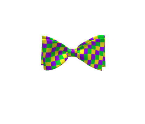 Half Inch Mardi Gras Checks