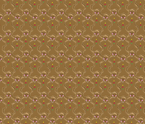 Kedoki Gingerbread Men fabric by kedoki on Spoonflower - custom fabric