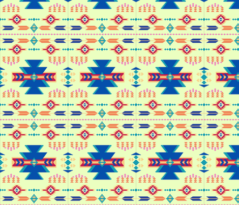 Aztec Green fabric by phyllisdobbs on Spoonflower - custom fabric