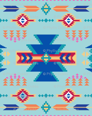 Aztec Turquoise Blue
