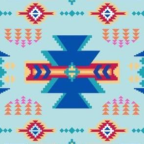 Aztec Southwestern Turquoise Blue