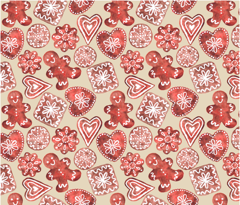 21x18 WC Gingerbread fabric by kimbliss on Spoonflower - custom fabric