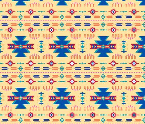 Aztec Yellow fabric by phyllisdobbs on Spoonflower - custom fabric
