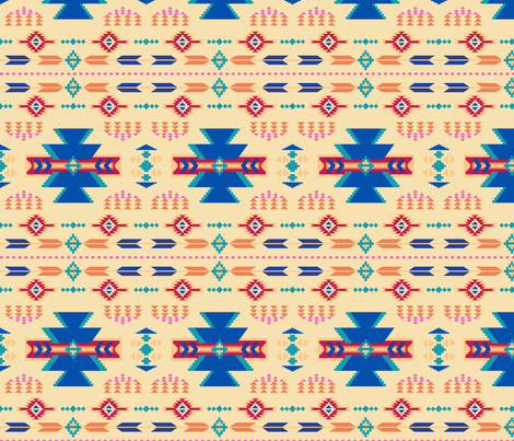 Aztec Yellow fabric by phyllisdobbs on Spoonflower - custom fabric
