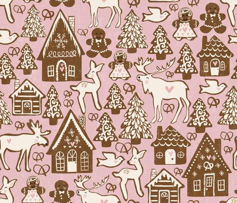 gingerbread fabric by pattyryboltdesigns on Spoonflower - custom fabric