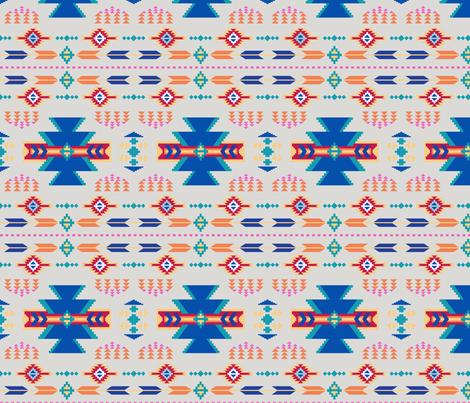 Aztec Gray fabric by phyllisdobbs on Spoonflower - custom fabric