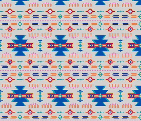 Aztec Gray fabric by phyllisdobbs on Spoonflower - custom fabric