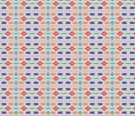 Aztec Stripe Gray fabric by phyllisdobbs on Spoonflower - custom fabric