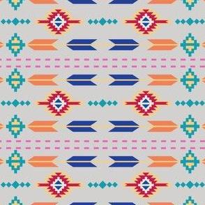 Aztec Stripe Gray