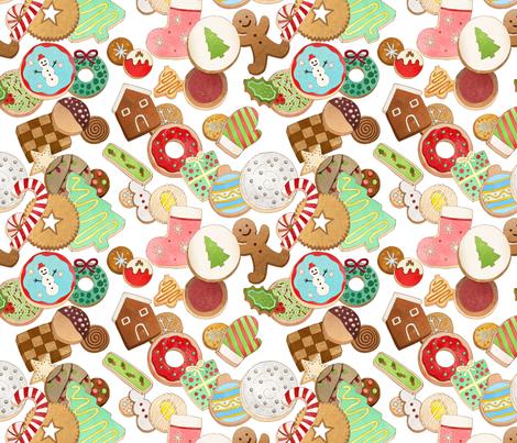 Christmas_Cookies fabric by allisonbharn on Spoonflower - custom fabric