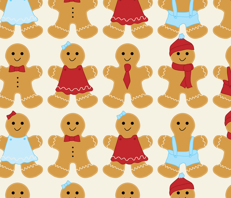 gingerbread fabric by ebygomm on Spoonflower - custom fabric