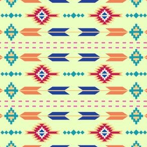 Aztec Stripe Green