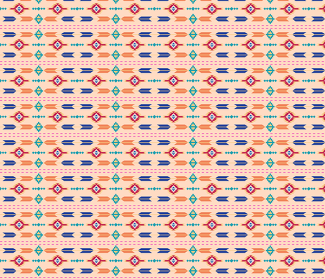 Aztec Stripe Salmon Orange fabric by phyllisdobbs on Spoonflower - custom fabric