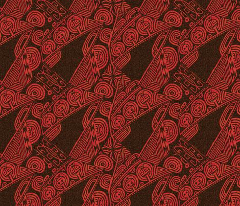 Tatau Marquesan 1a fabric by muhlenkott on Spoonflower - custom fabric