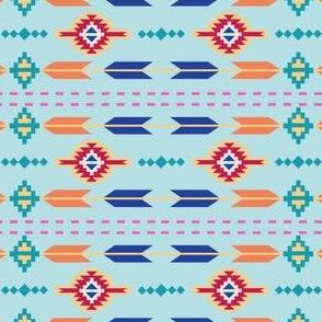 Aztec Stripe Turquoise