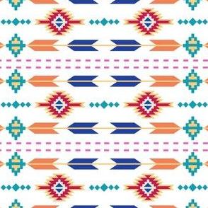 Aztec Stripe White
