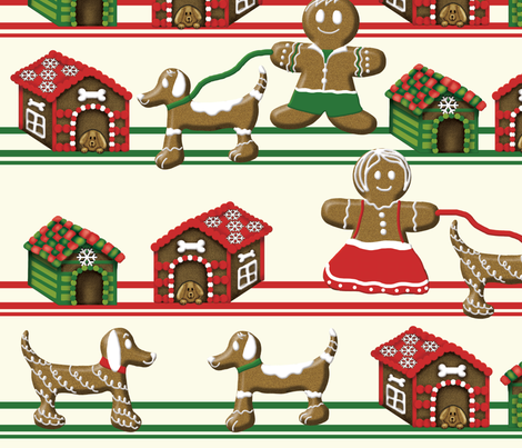 gingerbread fabric by all_dolled_up_designs on Spoonflower - custom fabric