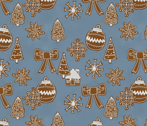 Gingerbread Holiday fabric by ben_geiger on Spoonflower - custom fabric
