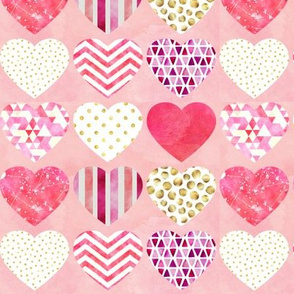 "Heart Silhouettes Design 2 6"""