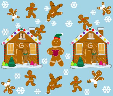gingerbreadjoy fabric by kslloyd on Spoonflower - custom fabric