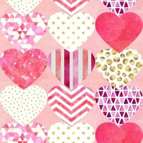 "Heart Silhouettes Design 4 8"""