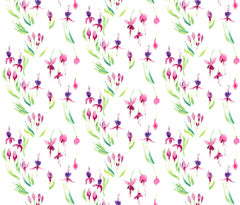 fuscia wonderland small fabric by jeanne_sterner on Spoonflower - custom fabric