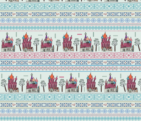 Russian winter tale fabric by pikku_susi on Spoonflower - custom fabric