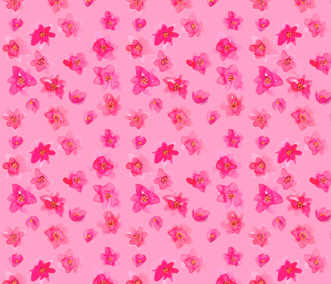 tiny pink flowers pink fabric by jeanne_sterner on Spoonflower - custom fabric