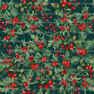 Winter - Berries Teal