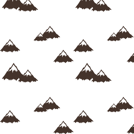 mountains || brown fabric by littlearrowdesign on Spoonflower - custom fabric