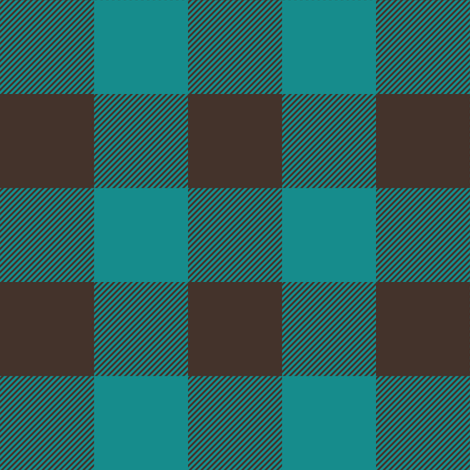 dark teal and brown plaid fabric by littlearrowdesign on Spoonflower - custom fabric