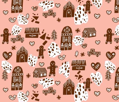Gingerbread peach fabric by spencerwiggins on Spoonflower - custom fabric