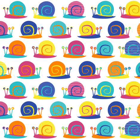 Snail Party fabric by jannasalak on Spoonflower - custom fabric