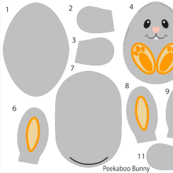 Peekaboo Bunny Cut and Sew