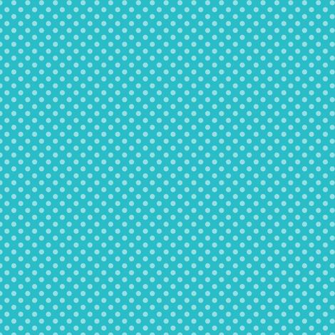 Small Polka Dots Blue Curacao fabric by jannasalak on Spoonflower - custom fabric