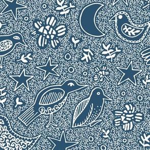 Night time garden Blue