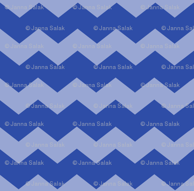 Small Dazzling Blue Chevron