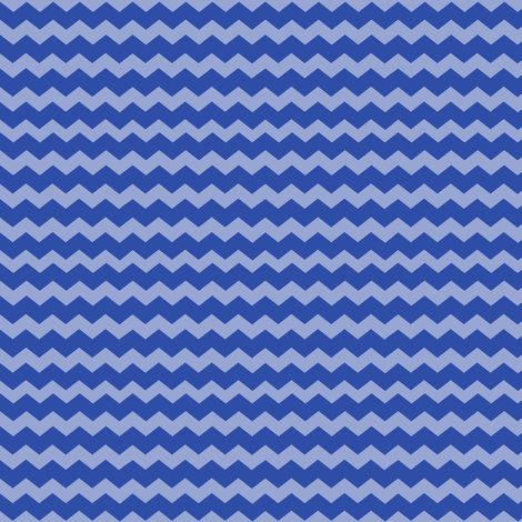 Small Dazzling Blue Chevron fabric by jannasalak on Spoonflower - custom fabric