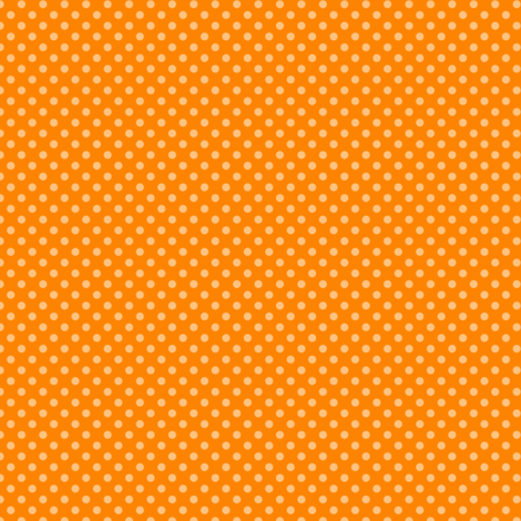 Small Polka Dots Autumn Orange fabric by jannasalak on Spoonflower - custom fabric