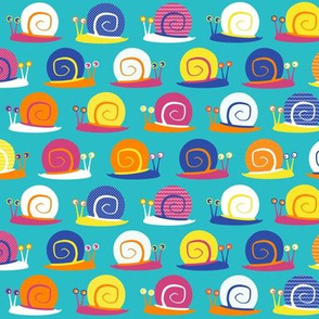 Snail Party Blue