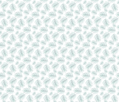 PALM leaves blue fabric by aenne on Spoonflower - custom fabric